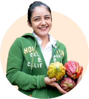Julmy Portillo works at the Xol chocolate factory in Honduras. Xol chocolate is a brand of the Fairtrade-certified COAGRICSAL coop.